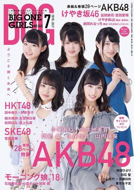 「BIG ONE GIRLS 2018年7月号」グラビア:富田鈴花・宮田愛萌(けやき坂46) [5/31発売]
