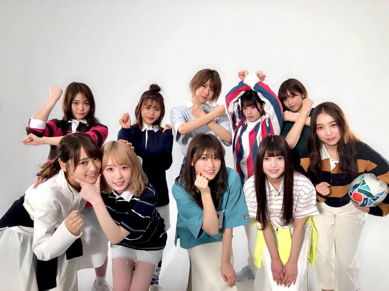 欅坂46 スペシャル企画『ラガーシャツに着替えたら』掲載 「Men's NONNO 2019年7月号」6/8発売
