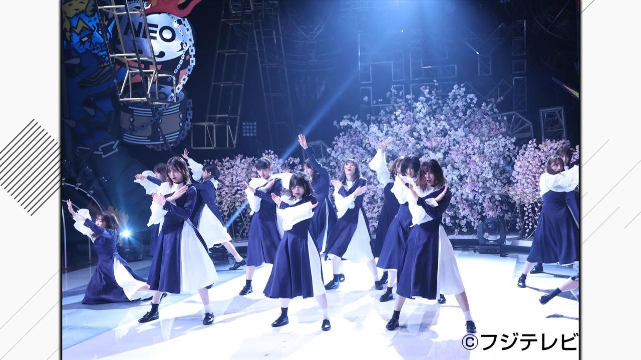 櫻坂46が「土曜プレミアム・HEY!HEY!NEO! MUSIC CHAMP」に出演!山﨑天が描く浜田爆笑似顔絵!?新曲「BAN」を披露!